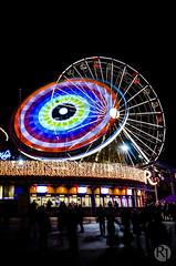 Carnival of Light (R1ku Exposures) Tags: park longexposure nightphotography carnival wheel night finland photography lights amusement helsinki ferris slowshutter ferriswheel amusementpark linnanmki alppila rinkeli valokarnevaali carnivaloflights valokarnevaalit flickrandroidapp:filter=none