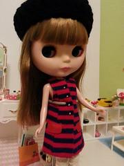 Slow Nimes - vintage Francie striped dress