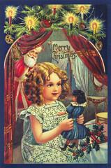Vintage reprint Christmas postcard (printed in Ukraine) (katya.) Tags: christmas vintage postcard ukraine reprint