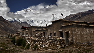 Rongbuk with Everest