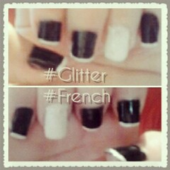 Glitter French (suellynmendes) Tags: art branco glitter french nail preto branca brilho unha fofa purpurina francesinha decorada prupurina purpurinabranca