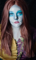 A Nightmare Before Christmas Sally (tsorningold) Tags: christmas halloween tim costume makeup before sally wig wigs nightmare burton stiches arda