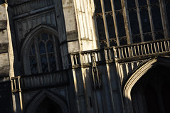 DSC_8953 [ps] - Spandrel Stripes (Anyhoo) Tags: uk england urban church window stone architecture facade point carved arch cathedral stonework hampshire doorway porch limestone winchester ribbed westend faade lowsun tracery sidelit winchestercathedral anyhoo photobyanyhoo
