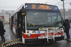 #9000 33 Forest Hill to St Clair West Stn (SteveC123!) Tags: bus nova ttc complex artic lfs hillcrest
