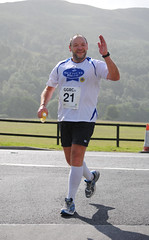 Bob Carruth of NFU Scotland looking fresh at the half way point of his 28k run. Photo courtesy of Karen Carruth, The Scottish Farmer