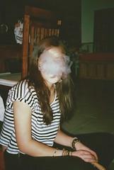 smoke (Valentin Lennon) Tags: film girl night analog vintage germany photography shisha stripes smoke retro indie analogue rauch filmisnotdead vsco vscocam