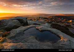 Landscapers Delight (martinl3) Tags: sunset sky pool nationalpark rocks path peakdistrict edge gritstone stanageedge
