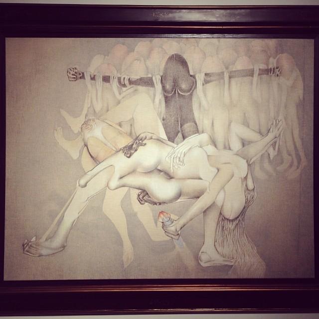 """Idole Possédée"" 1978 • ""El Pasado Presente"" de Gerardo Chávez #art #arte #arteenlima #artinlima #artista #artist"
