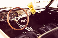 Time Machine (JourdanLaik) Tags: show wood old dice color classic chevrolet leather wheel wisconsin vintage steering fuzzy interior ss faded chevy processing portfolio holz shifter halescorners
