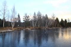 Weihnachten am Kirchsee (raumoberbayern) Tags: christmas sunset lake mountains alps ice weihnachten bayern bavaria see sonnenuntergang berge alpen eis kloster kirchsee monastrey