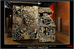 Speedy Graphito - La Cabane (2010) (pharoahsax) Tags: world street urban streetart get art colors wall writing germany painting deutschland graffiti artwork stencil mural paint artist kunst tag huette tags spray peinture urbanart painter writer graff biennale legal spraycan saarland voelklingen sden suedwesten 2013 voelklinger pmbvw worldgetcolors