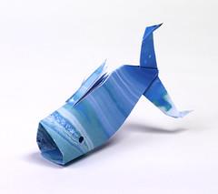 Origami création - Didier Boursin - Baleine