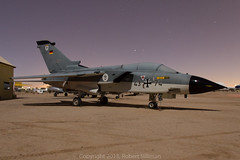 Faux Daylight - Panavia Tornado IDS (rob-the-org) Tags: aircraft noflash fullmoon german strike cropped f80 tornado atnight 250 ids 18mm tucsonaz panavia pimaairspacemuseum swingwing iso1000 4374 300sec fauxdaylight marinefliegergeshwader1