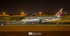 Qatar Airways (Boeing 787-8 Dreamliner) (aeroBahrain) Tags: sky plane airplane photography bahrain airport king aircraft aviation jet royal airshow airbus boeing cessna manama qatar airbase facebook bombardier twitter dreamliner instagram alfursan aerobahrain