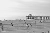 Manhattan Beach Pier (ktyphoto) Tags: blackandwhite white black beach photography pier manhattan adventure gloom manhattanbeach manhattanpier manhattanbeachpier nikond5100 ktyphoto
