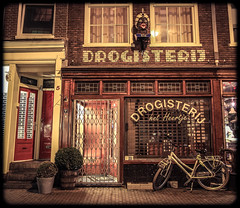 Amsterdam Gapper Drug Store (Michael Shoop) Tags: travel holland tourism netherlands dutch amsterdam bike bicycle night canon europe nederland thenetherlands nl europeanunion noordholland herenstraat gapper drogisterij canon7d michaelshoop