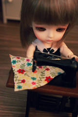 """Let's sew this"" (nettle.) Tags: wood ikea yellow floors miniatures lea 112 basic latidoll lati gupr toys bjd dollhoiuse"
