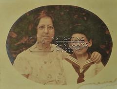 Mevrouw Arrias met zoon Daisy
