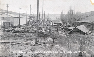 After the Great Flood, March 1, 1910 - Colfax, Washington