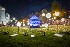 UFO in Jerusalem (Alexander Rozenson) Tags: green art festival wall stars lights israel jerusalem illumination ufo   milkyway