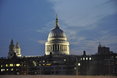 Night Scene (Clive Varley) Tags: panorama london night cathedrals