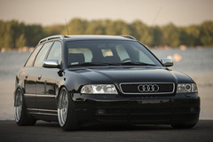 (NickGarrison.) Tags: black water vw wheels b5 audi brilliant avant coils s4 stance scrape b5s4