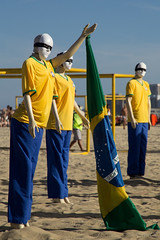 Brazil's World Cup - Protest 2 (Carlos Oki) Tags: world brazil cup argentina brasil riodejaneiro do belgium fifa soccer protest copacabana fans copa futebol