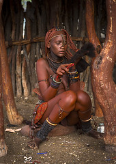 Himba Woman Taking Care Of Her Hair, Epupa, Namibia (Eric Lafforgue) Tags: africa girls shirtless portrait vertical outdoors photography women day adult tribal jewellery afrika tradition tribe ochre youngadult hairstyle namibia comb plaits adultsonly oneperson indigenous lookingaway ethnicity kaokoveld himba ethnology epupa southernafrica namibie damaraland realpeople colorimage onewomanonly cunene namibe colorpicture namibi namiibia kuneneregion colourimage africanethnicity 1people himbatribe ethnicgroup ovahimba onlywomen himbapeople traditionalhairstyle nomadicpeople colourpicture ethnologic     namibya namibio  otjize   herdingpeople namibia8096