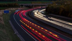 An Autumnal A1 Motorway (CallumParry1) Tags: a1 motorway uk long exposure a1m