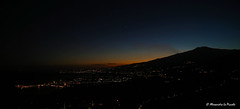 Lovely silhouette of ETNA & Venus @ blue hour... (Alessandro Lo Piccolo Hollweger) Tags: etna sicily taormina bluehour sunset volcano silhouette harbour bay nightscape