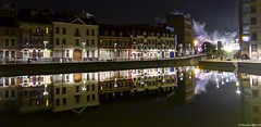 Lille - Quai du wault (belzebello) Tags: sky street luminosite luminosity reflection nord city france night beautiful lumiere architecture urban amazing light leica colors