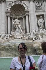 At the Fountain (noname_clark) Tags: italy rome vacation trip honeymoon trevifountain statue water katherine