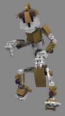 Duld, The Skeleton 1 (Folisk) Tags: lego moc mixel system ldd digital designer pov pose gold spooky war stalking