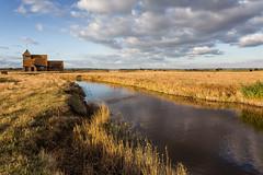 JP5D3427 (John Perriam DPAGB AFIAP) Tags: thomasabecket church fairfield romney marsh kent england uk canon eos sky cloud water field grass