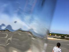 Cat Lady & Wave (jawsnap.photo) Tags: distortion glass palosverdes people project365 wwwjawsnapnet jawsnap