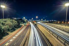 M621 Looking Towards Leeds (Richard Croft136) Tags: leeds m621 evening sky lens flare tamron 1530 long exposure motorway road