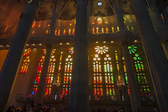 NH0A3630s (michael.soukup) Tags: barcelona sagradafamlia sagrada familia basilica church stainedglass color colorful windows nave interior gaudi churchoftheholyfamily catholicchurch artnouveau architecture neogothic spain catalonia