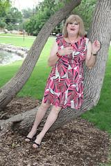 new104214-IMG_3887t (Misscherieamor) Tags: transvestite sissy crossdress tgirl transgender travestis travestie travesti tranny tv ts cd tg m2f tgurl gurl mature xdresser feminine femme transformation travestido travestit travestito traviesa transwoman tree park pond prettydress