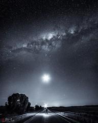 The Dark Road. (Bill Thoo) Tags: thedarkroad parkes nsw australia milkyway stars night sky explorer landscape travel sony a7rii samyang 14mm ngc