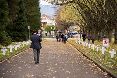 20161111_0074_1 (Bruce McPherson) Tags: brucemcphersonphotography remembranceday southmemorialpark southmemorialparkcenotaph cenotaph vancouverpolice vpd cadets marchpast march marching autumn fall fallleaves memorial vancouver bc canada