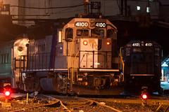 Sequential CNJs (sullivan1985) Tags: hoboken hobokenterminal hobokendivision emd gp40p gp40ph2 njtr4100 njtr4101 cnj3681 cnj3672 electromotive yard night train railroad railway geep cnj centralrailroadofnewjersey depot station hudsoncounty nj njtr njt newjersey njtransit