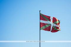 Basque country flag, Spain (Naomi Rahim (thanks for 2 million hits)) Tags: sansebastian donostia espaa spain basque basquecountry 2016 travel travelphotography nikon nikond7200 wanderlust summer flag bluesky clearsky blue pride political