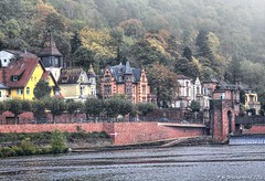 View across the Neckar river towards Neuenheim, Heidelberg, Germany (PhotosToArtByMike) Tags: neuenheim heidelberggermany heidelberg germany neckarriver heidelbergneuenheim houses villas oldtownheidelberg medieval neckarvalley badenwrttemberg europe
