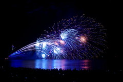 Enoshima Fireworks 2016, Japan (runslikethewind83) Tags: japan fireworks color blue night asia enoshima water ocean 2016 pentax