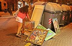 Barcelona against art (Alexandr Tikki) Tags: art barcelona spain wow amazing women night best building concept classic city elena great