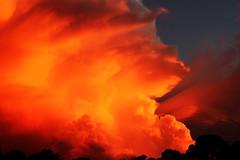 Sunset Extraordinaire (ICK9S [M. H. Stephens]) Tags: sunsetextraordinaire sunset sun clouds thunderhead cffaa