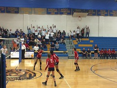 "Volleyball Playoff Game at Lewisville HS • <a style=""font-size:0.8em;"" href=""http://www.flickr.com/photos/137360560@N02/30600176295/"" target=""_blank"">View on Flickr</a>"