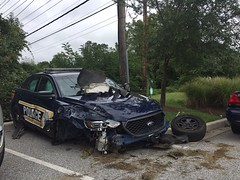 Cruiser crash 2016 (AnnapolisFOPLodge1) Tags: annapolis police dept department apd law enforcement hero heroes crash collision cruiser vehicle car