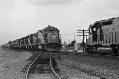 T2 Meet at Montclair (GRNDMND) Tags: trains railroads southernpacific sp espee ssw locomotive emd sd45t2 sd40t2 montclair california