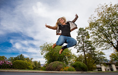 Warm air rises (Flickr_Rick) Tags: outside autumn breanne jump jumping jumpology woman athletic strong